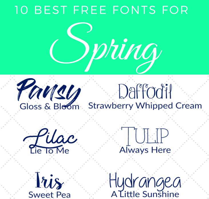 10 Best Free Fonts for Spring for Your Next Project