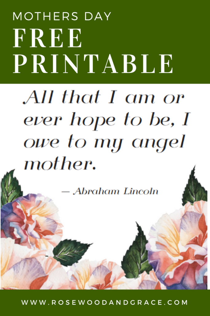 Free Mothers Day Printable | Rosewood and Grace