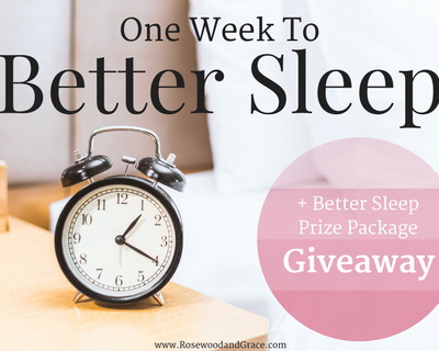 One Week to Better Sleep + Giveaway