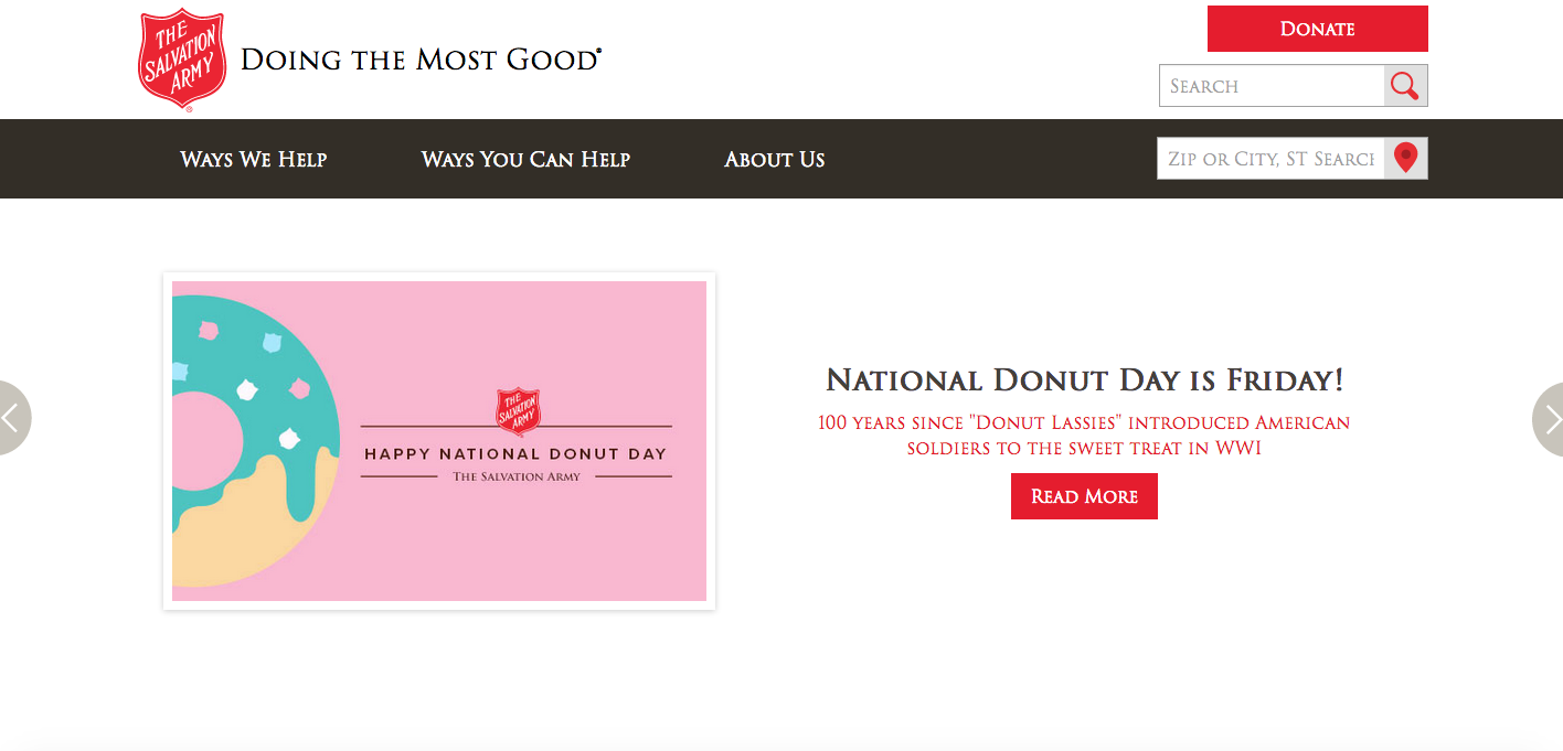 Salvation Army National Donut Day