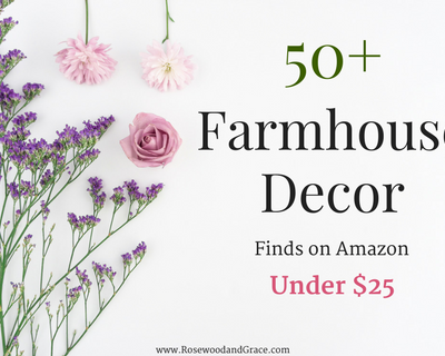 Who knew that Amazon was such a great place to find affordable home decor?? I've rounded up more than 50 of my favorite farmhouse decor finds from Amazon that are all priced at under $25!