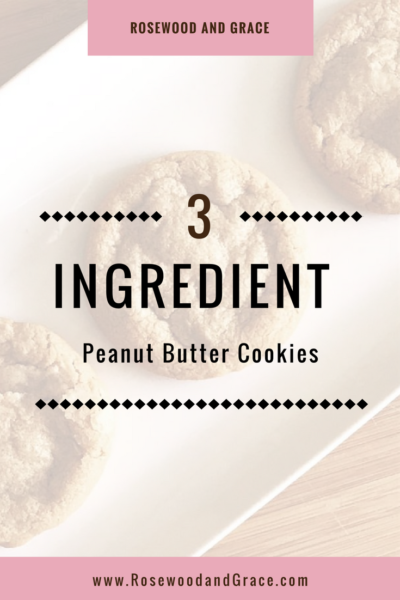 Everyone loves peanut butter cookies, so what could be better than these 3 ingredient peanut butter cookies? They're so quick and easy, you'll love them!