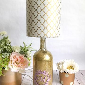 Custom Wine Bottle Lamp | Rosewood and Grace