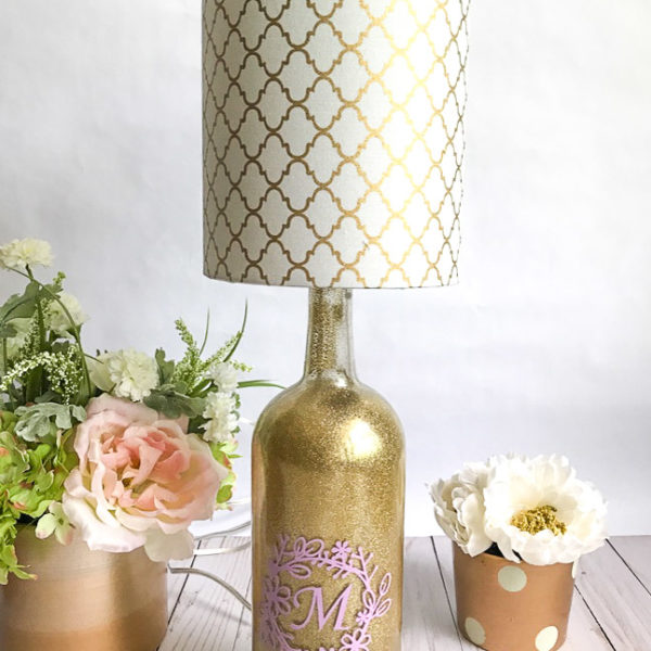 Custom Wine Bottle Lamp | Rosewood and Grace