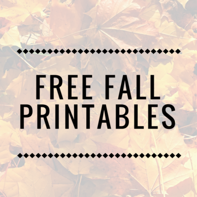 Free Fall Printables To Celebrate The Season