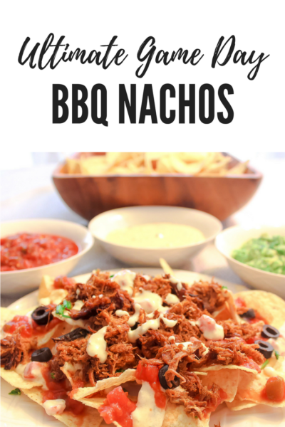 These Ultimate Game Day BBQ Nachos are perfect for feeding hungry football fans on Sundays. They're so easy, you'll want to make them every Sunday!