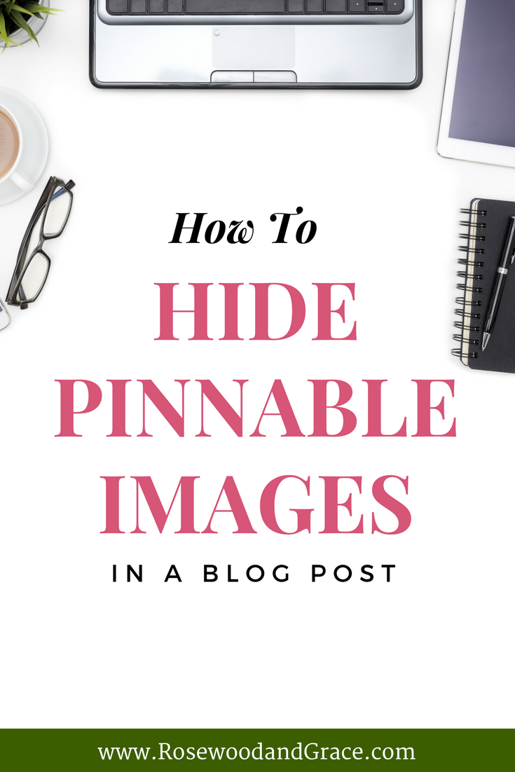 Pinterest images are so important to your blog posts, but they take up so much valuable space! Here's a quick way to hide pinnable images in your posts!