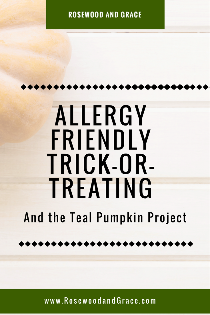 The Teal Pumpkin Project encourages the use of teal pumpkins to signify allergy friendly trick-or-treating locations for kids who may have food allergies.