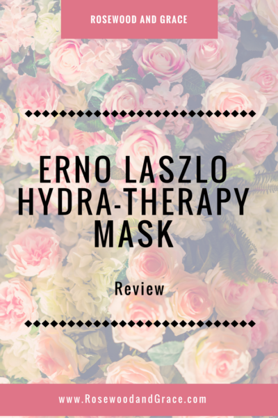 I was fortunate enough to get to try the Erno Laszlo Hydra-Therapy Mask and I couldn't be happier! It's the best mask I've ever used! Check out my review!