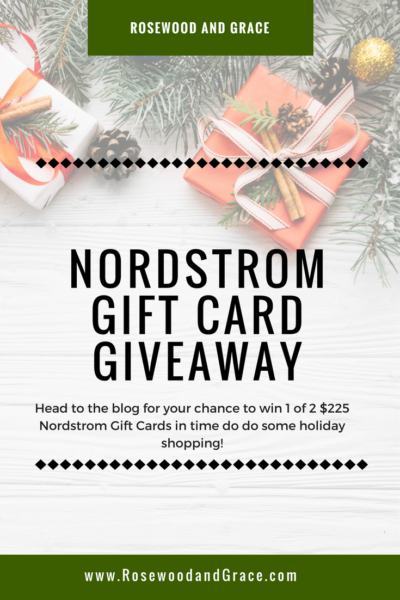 Holiday Nordstrom Gift Card Giveaway!