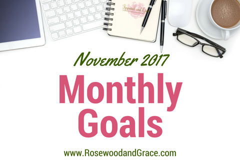 Come check out the November 2017 goals I have set for myself and my blog and get inspired to set some monthly goals for yourself!