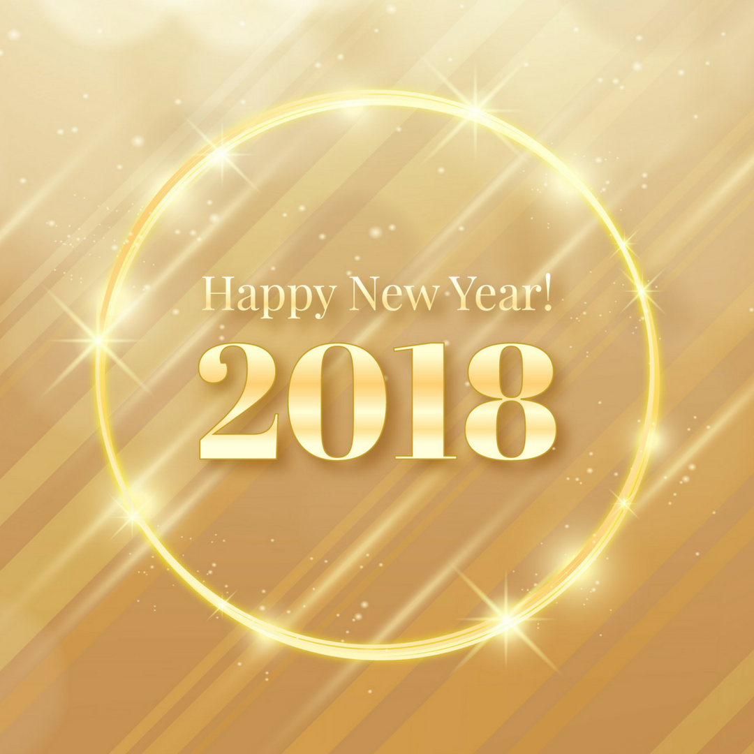 Happy New Year friends! I can't believe we're officially in 2018!  This year promises to be a big year for me and my family - lots of change and new adventures! Be sure to stay tuned to see what we're up to!