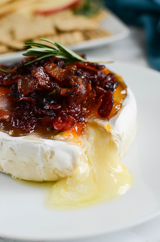 Bacon Cranberry Baked Brie by Fake Ginger