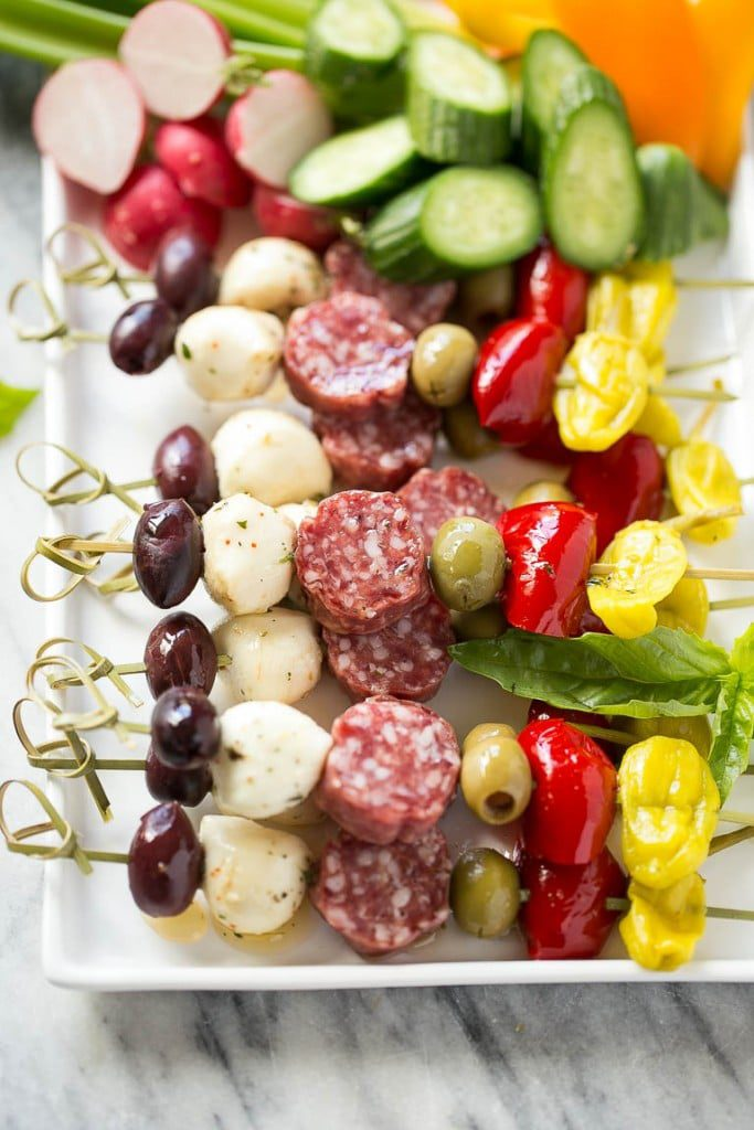 Antipasto Skewers by Dinner At The Zoo