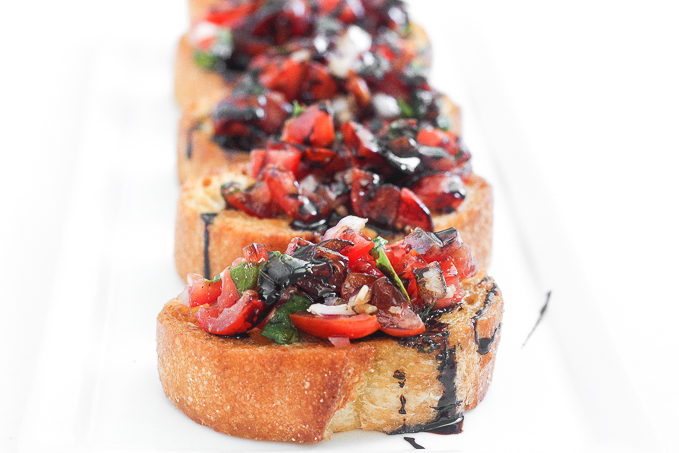 Easy Tomato Bruschetta with Balsamic Glaze by Ahead of Thyme